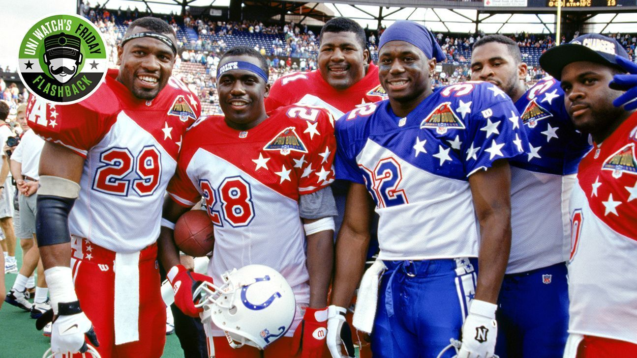 the latest 70a30 72a66 Uni Watch's Friday Flashback -- How Pro Bowl uniforms went ...