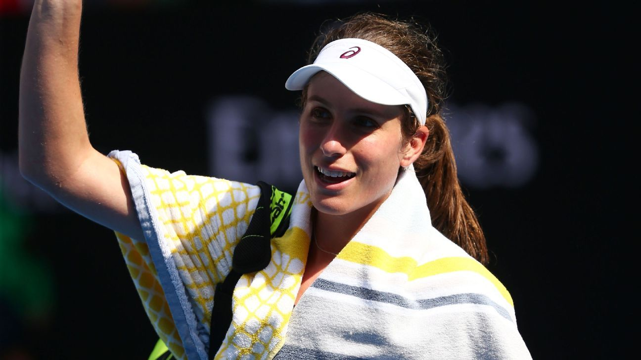 Konta out of Fed Cup tie with intestinal problem