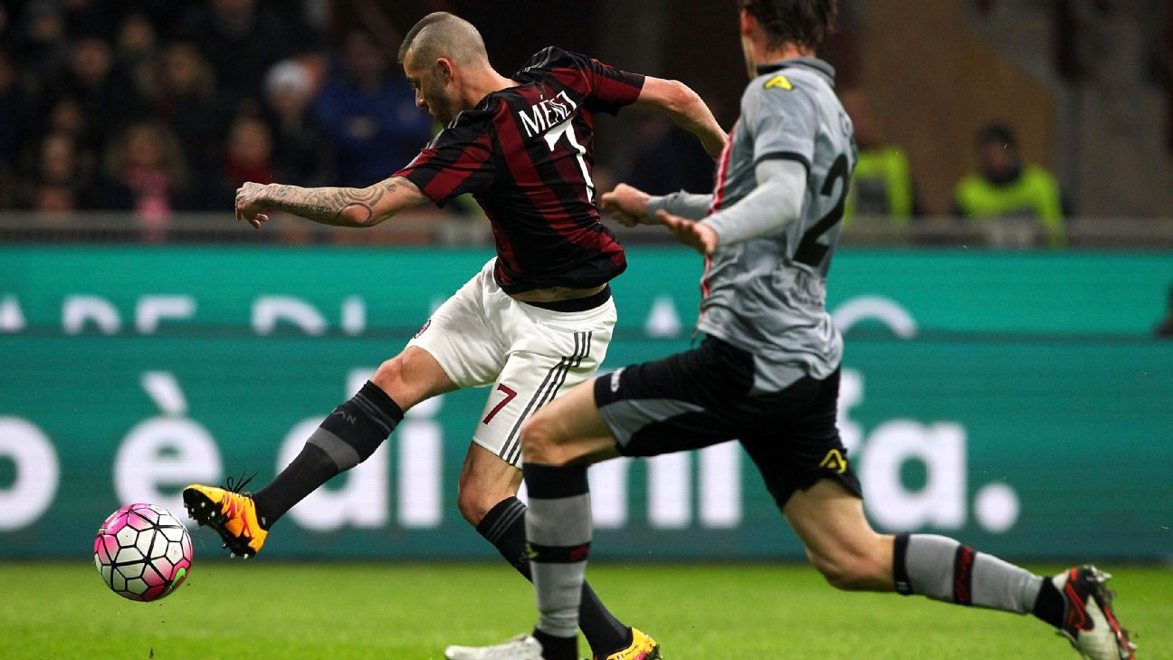 f8bc55d30 Jeremy Menez shines as AC Milan book place in Coppa Italia final