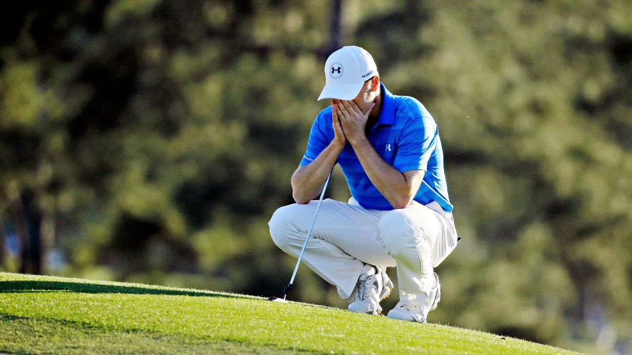 0cb5ca5b524 Jordan Spieth's collapse at the Masters the most shocking in golf history