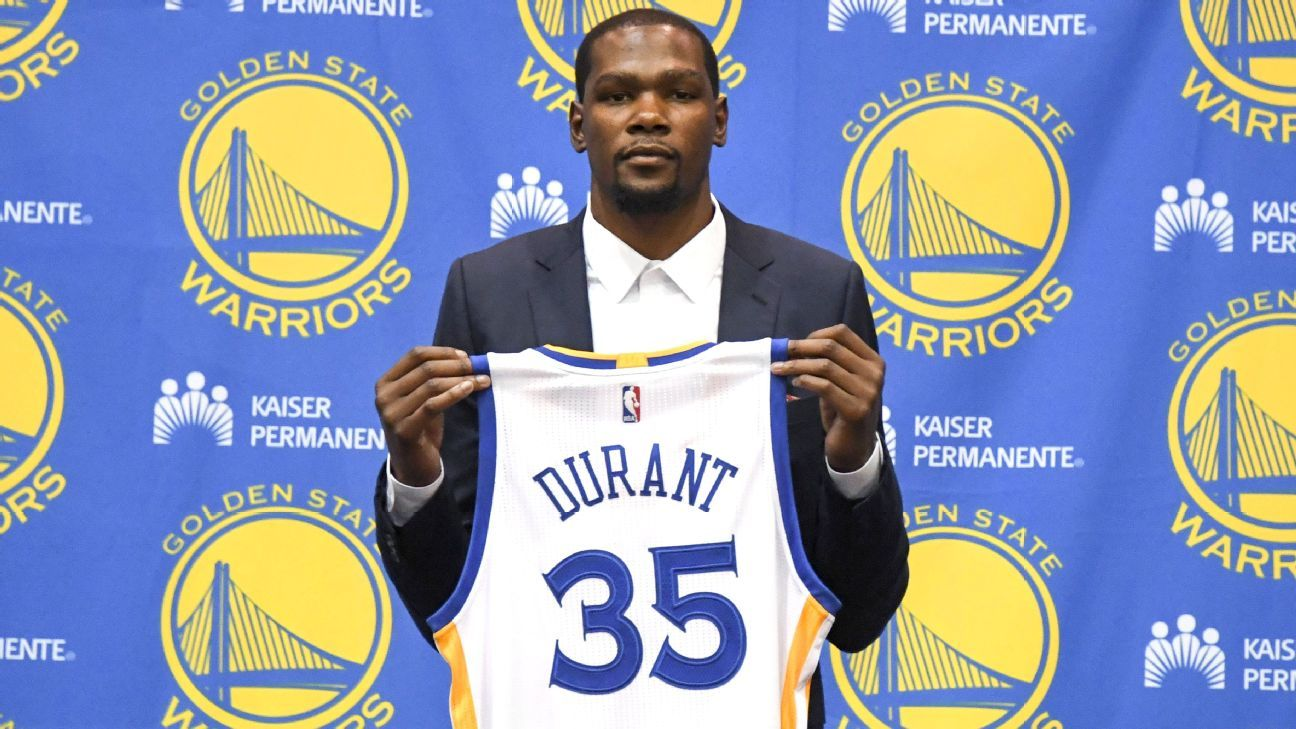 pick up 7995c a91c2 Kevin Durant 'comfortable' to be with Golden State Warriors