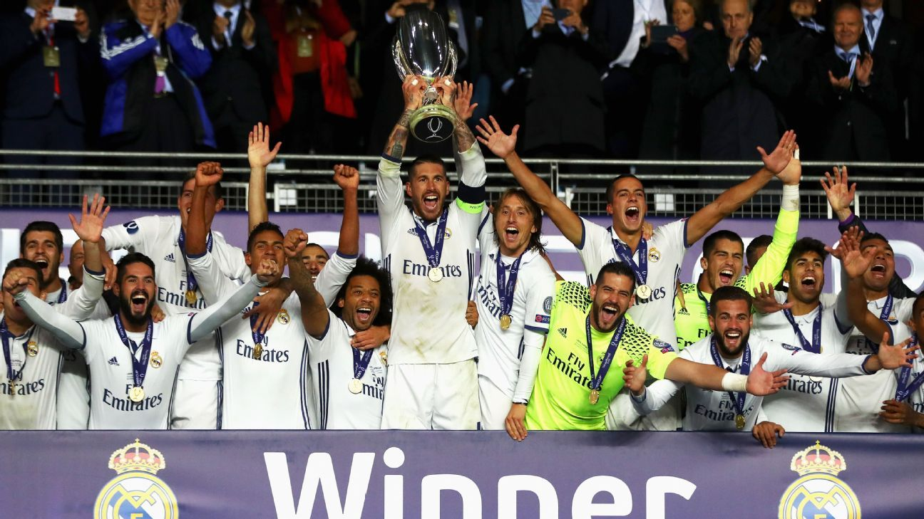 Zidane hails Ramos after Super Cup victory