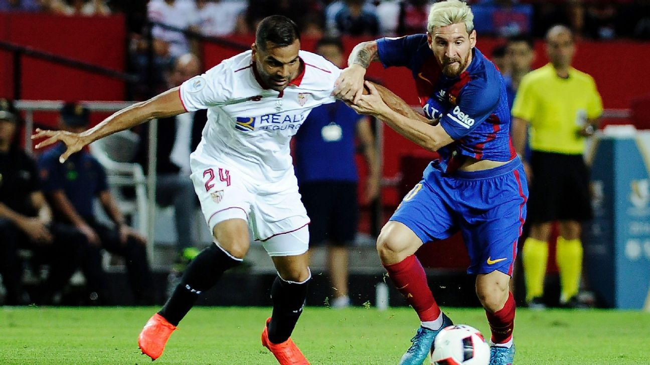 sevilla fc vs  barcelona - football match report - august 14  2016