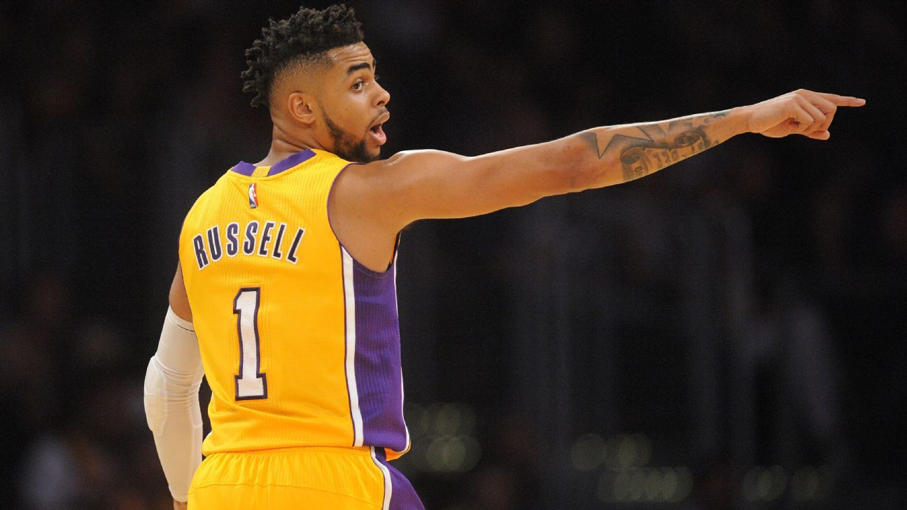D Angelo Russell Of Los Angeles Lakers Out Against San