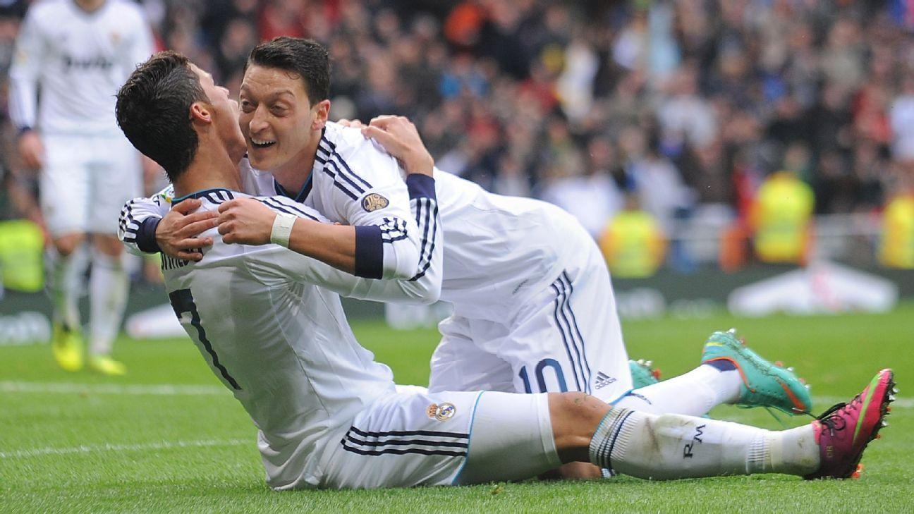 b11f94b7d Cristiano Ronaldo one of the greatest footballers in history says Mesut Ozil