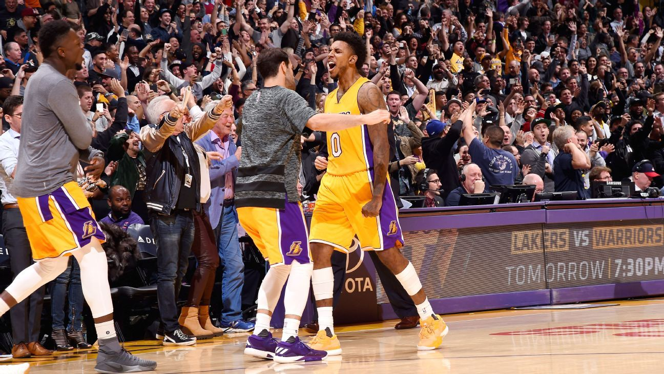 a8ba1ceead8d Nick Young s Los Angeles Lakers renaissance continues with a twist - Los  Angeles Lakers Blog- ESPN