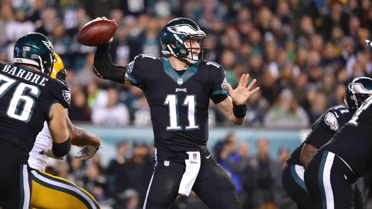 39f3f1a2599 Philadelphia Eagles  Carson Wentz on a similar track as Derek Carr -  Philadelphia Eagles Blog- ESPN