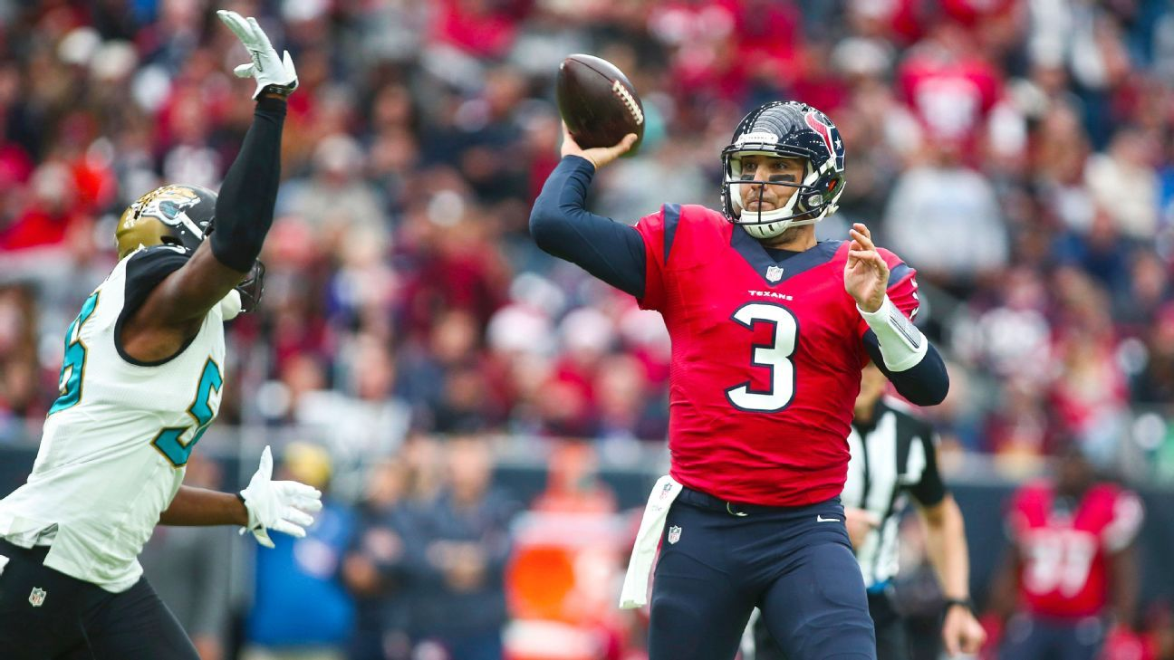 6d9d75516 Tom Savage leads Texans to comeback win after Brock Osweiler benching -  Houston Texans Blog- ESPN