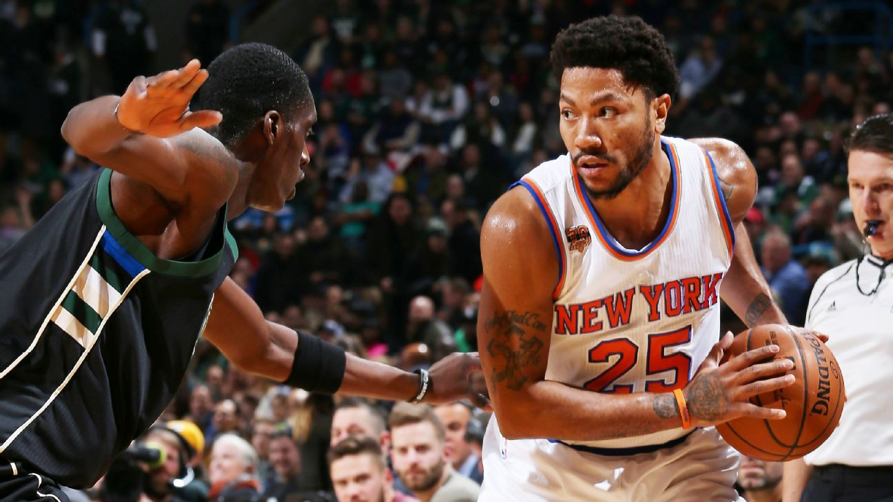 1e91403c98cd New York Knicks  Derrick Rose out Sunday with sprained left ankle