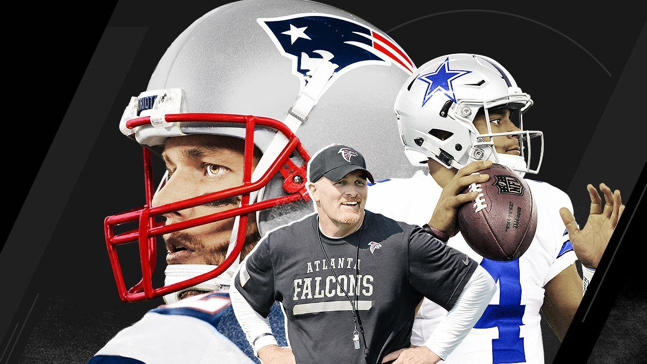 New England Patriots Dallas Cowboys Atlanta Falcons Out