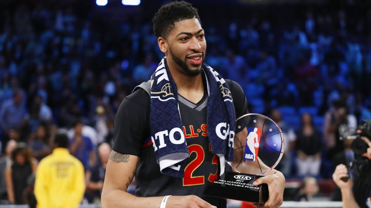 b816bae62 Anthony Davis breaks Wilt s All-Star scoring record