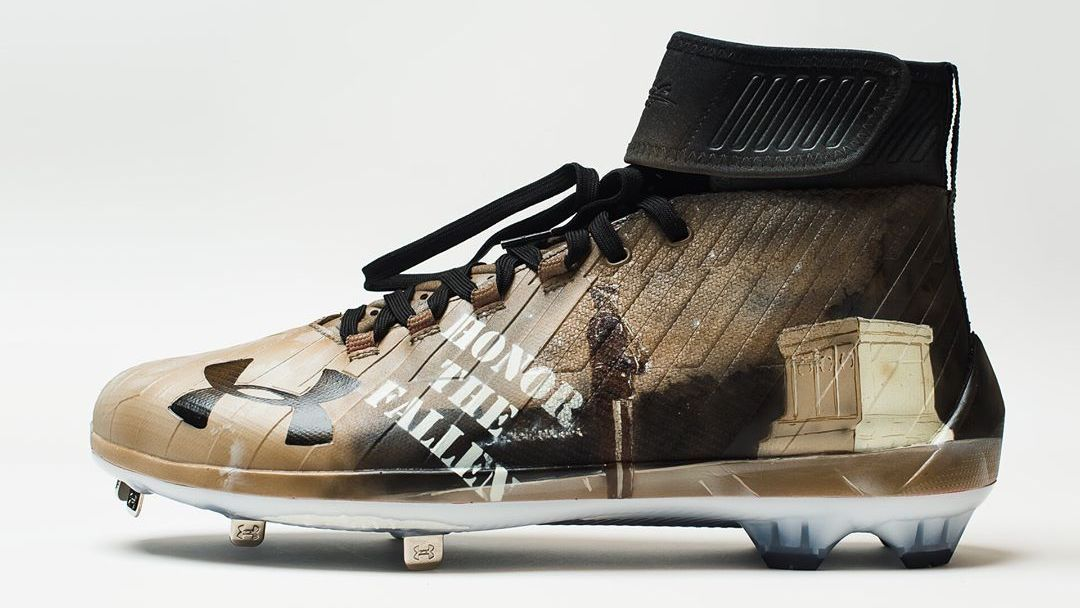 dbed1681d9a7 Bryce Harper reveals images of camouflage Memorial Day Harper 2 cleats