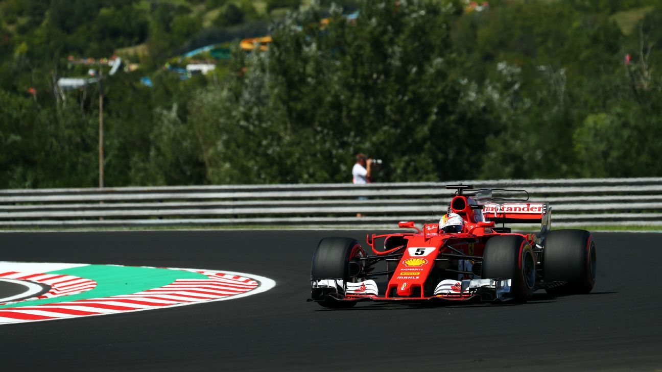 Vettel secures pole as Ferrari locks out front row in Hungary