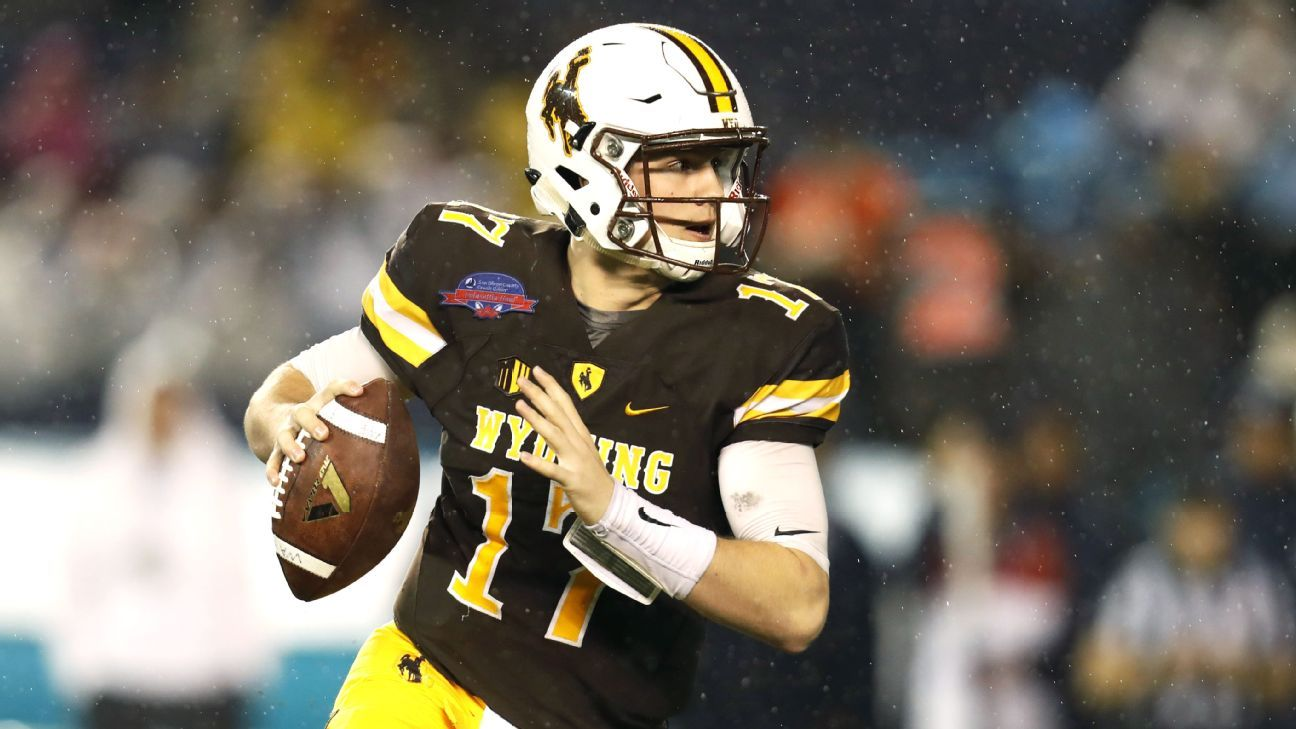 official photos 6f688 d9b55 Wyoming Cowboys Josh Allen goes from unknown to No. 1 pick ...