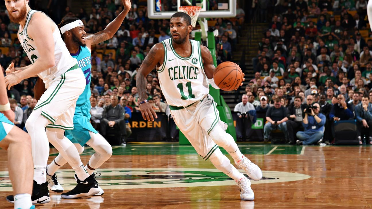 7f7880dbc735 Kyrie Irving and Gordon Hayward make Boston Celtics debuts in Monday s  preseason game
