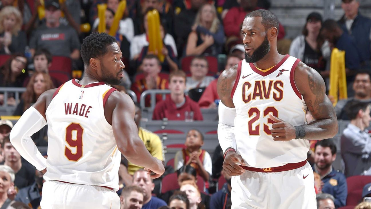 the best attitude 2621f c78ed Dwyane Wade compares Cleveland Cavaliers' struggles to those ...