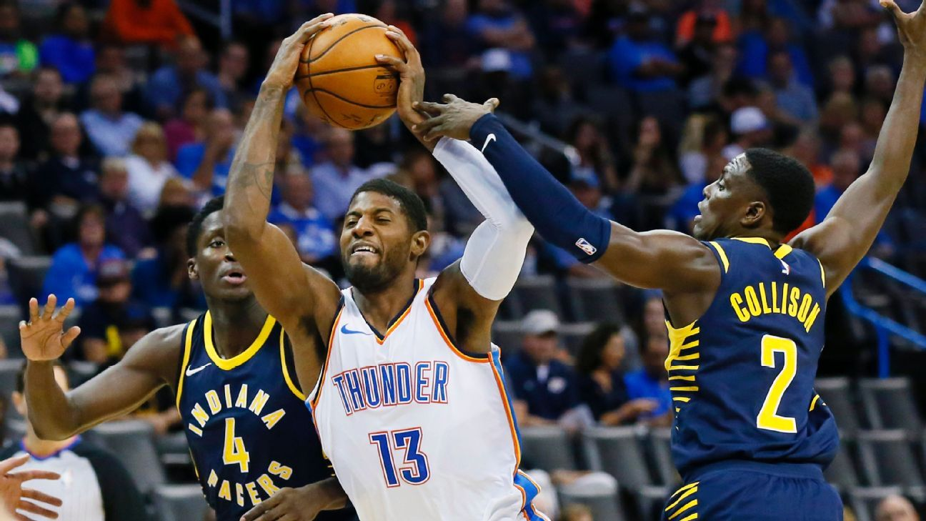 5cf123aa6 Paul George says Indiana Pacers  success is  closure  after trade to Oklahoma  City Thunder