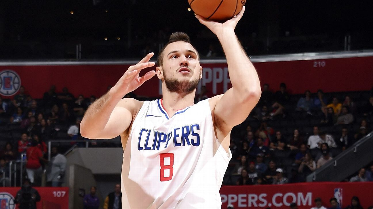 new arrival f4452 b5b22 Danilo Gallinari of Los Angeles Clippers out again with new ...