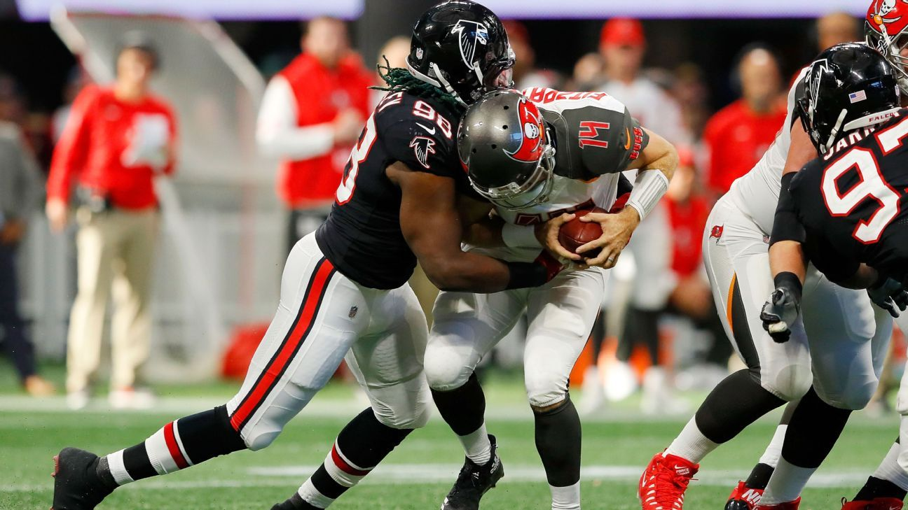 92b7d6dc9 Atlanta Falcons DE Takkarist McKinley shows burst to lead rookie class -  Atlanta Falcons Blog- ESPN