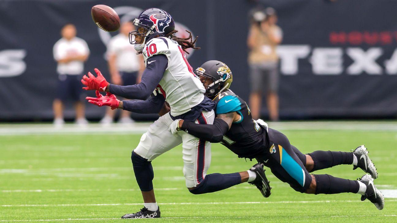 Houston Texans  DeAndre Hopkins  Going vs. top CBs  what I live for  - AFC  South- ESPN 6c8658548