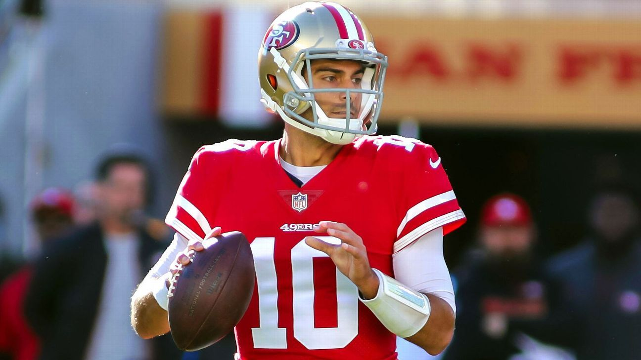 47126ae659a Pats haven t broken stride on one-year anniversary of Jimmy G trade - New  England Patriots Blog- ESPN