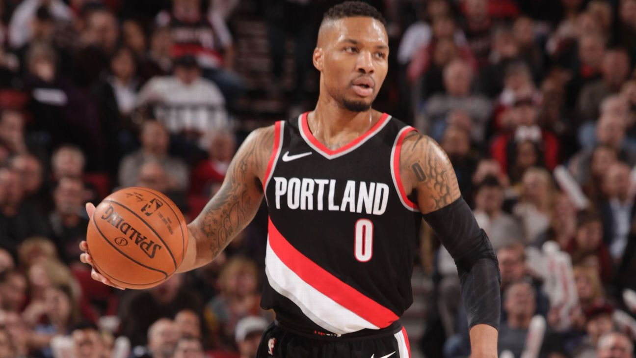 Portland Trail Blazers  Damian Lillard meets with owner Paul Allen over team  direction f98779a4f9