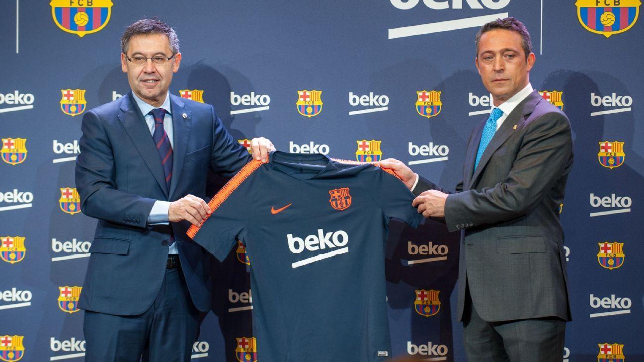 brand new 692da ac35d Barcelona sign €57 million deal with Beko for training shirt ...