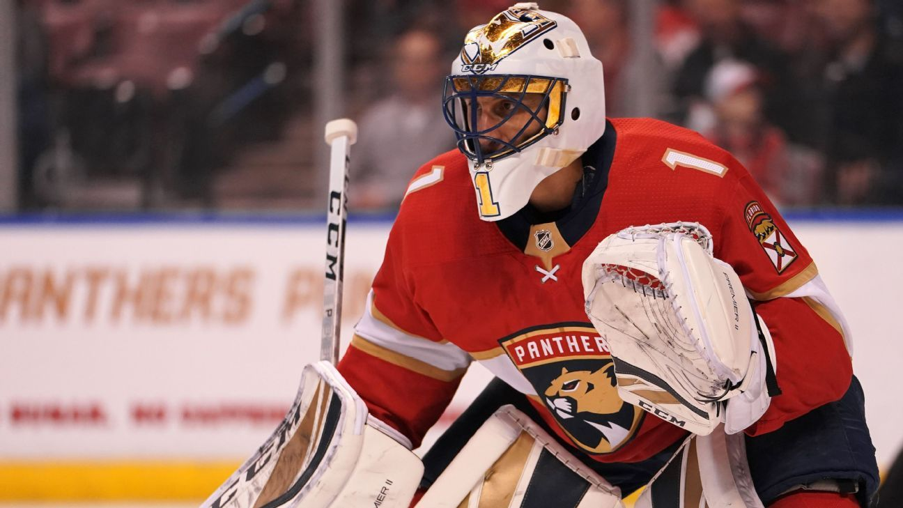 Florida Panthers Goalie Roberto Luongo Out 2 4 Weeks With Knee Injury