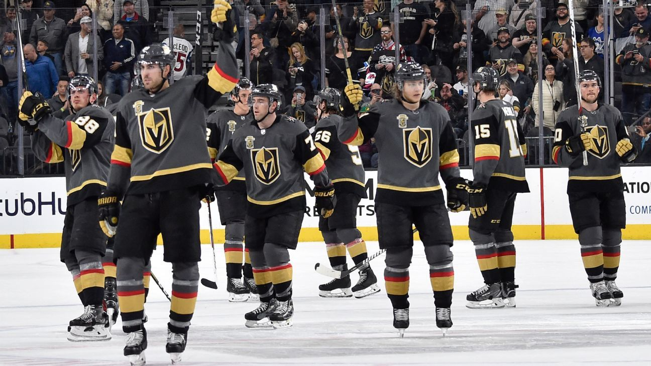 new style e2ad3 268b1 Vegas Golden Knights first to clinch playoff berth in ...