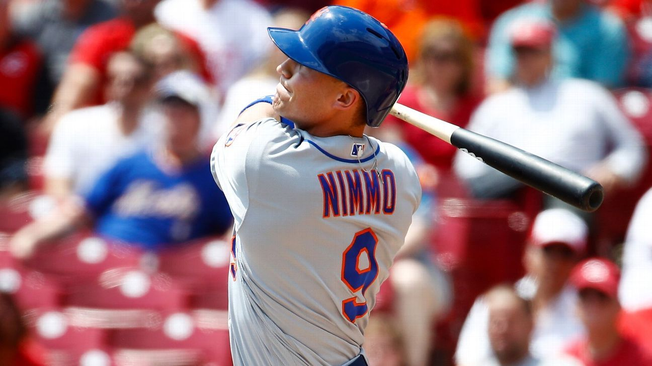 Mets place OF Nimmo on IL, call up Rajai Davis