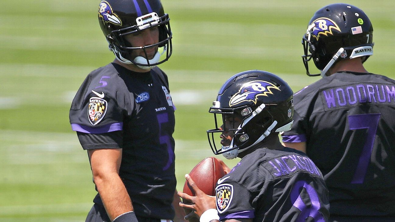 dae87c010 Baltimore Ravens quarterback Lamar Jackson has been lining up at other  positions during team practices