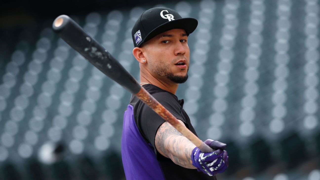 Veteran outfielder Carlos Gonzalez was called up by the Cubs and plugged into the lineup Monday.