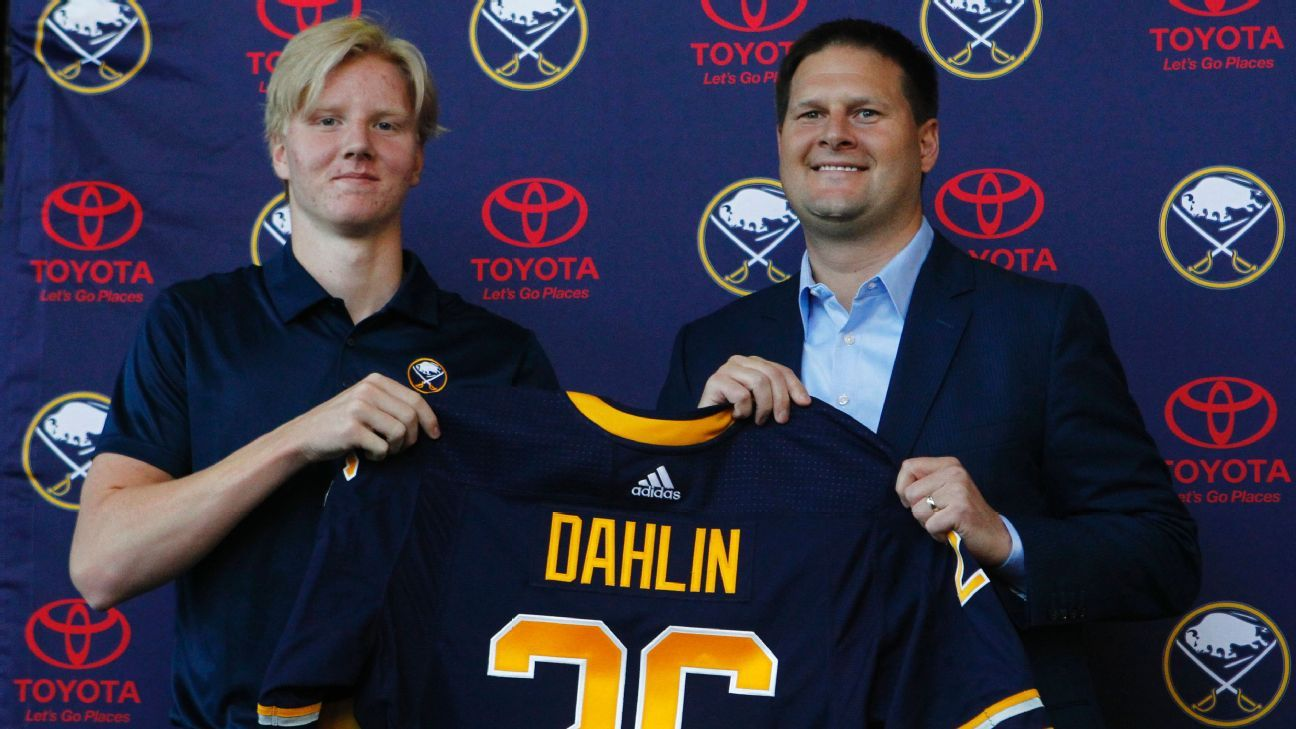 promo code 99494 aa285 Rasmus Dahlin, No. 1 overall pick, hits the ice for Buffalo ...