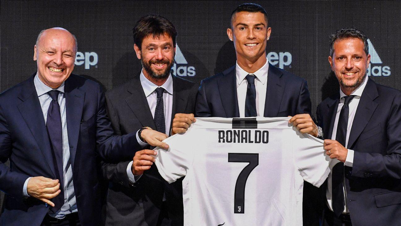 68ae10506 Cristiano Ronaldo should have won UEFA award despite not attending - Beppe  Marotta