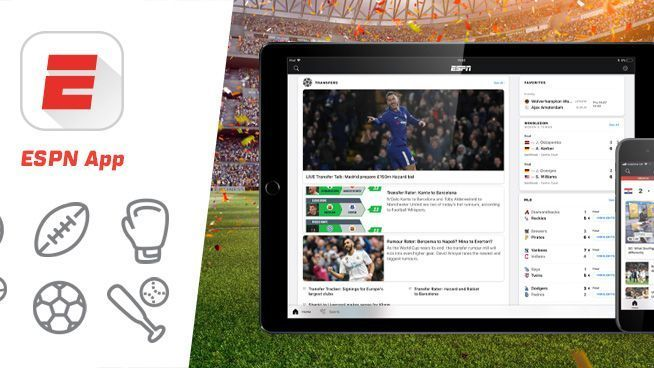 Download the ESPN App  Available on iOS and Android