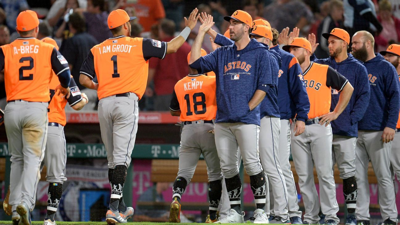 premium selection 75a23 bdc2a Houston Astros are learning to deal with pressure to repeat ...