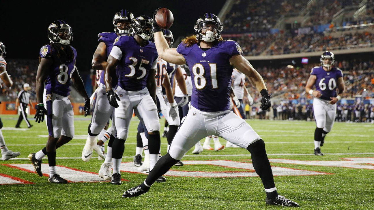 62b81db43 It takes a year before tight ends really catch on to NFL game - AFC North-  ESPN