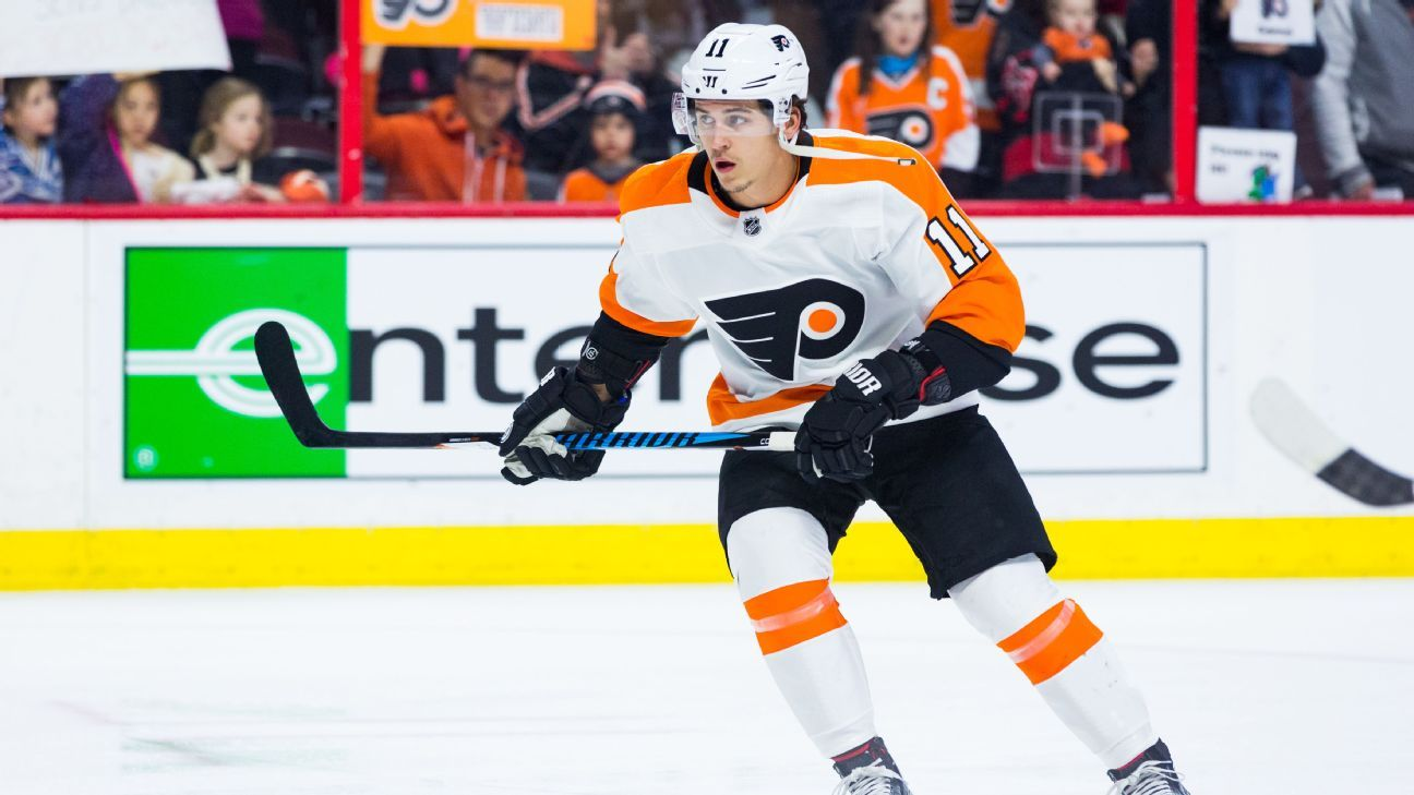 Flyers' Travis Konecny out indefinitely with concussion