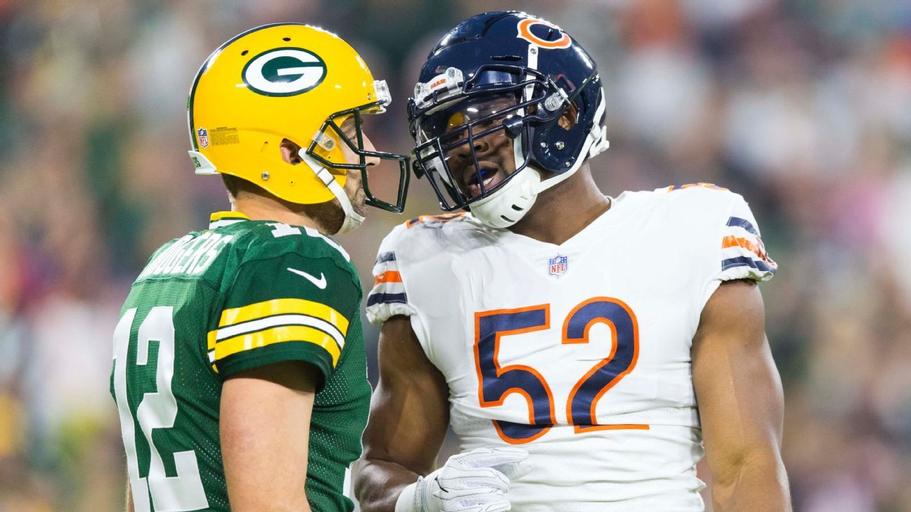 Bears-Pack will start season; Pats open on SNF