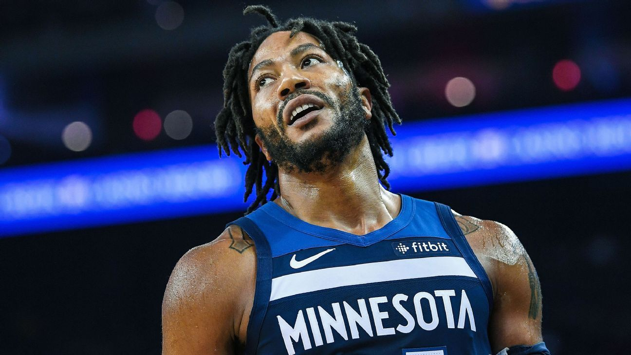 47c4c331235 Derrick Rose of Minnesota Timberwolves apologizes for saying his doubters  should  kill yourself