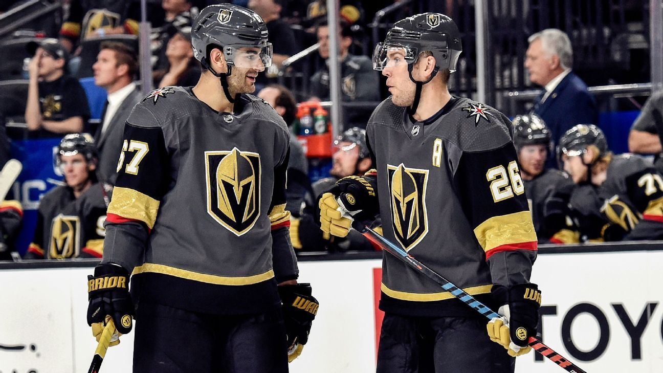 Nhl Max Pacioretty Paul Stastny And The Quest To Blend With The Golden Misfits Of The Vegas Golden Knights