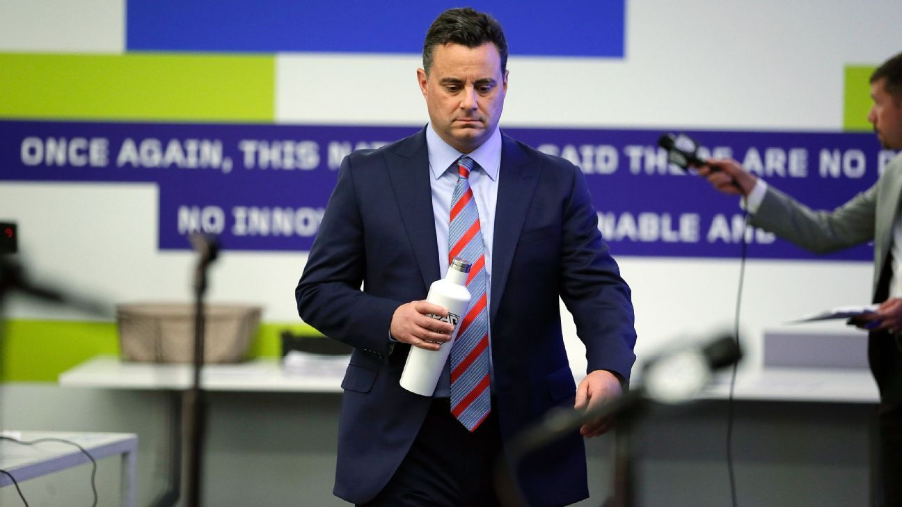 f85bc7a04a68 Arizona s Sean Miller declines to discuss FBI probe at Pac-12 media day