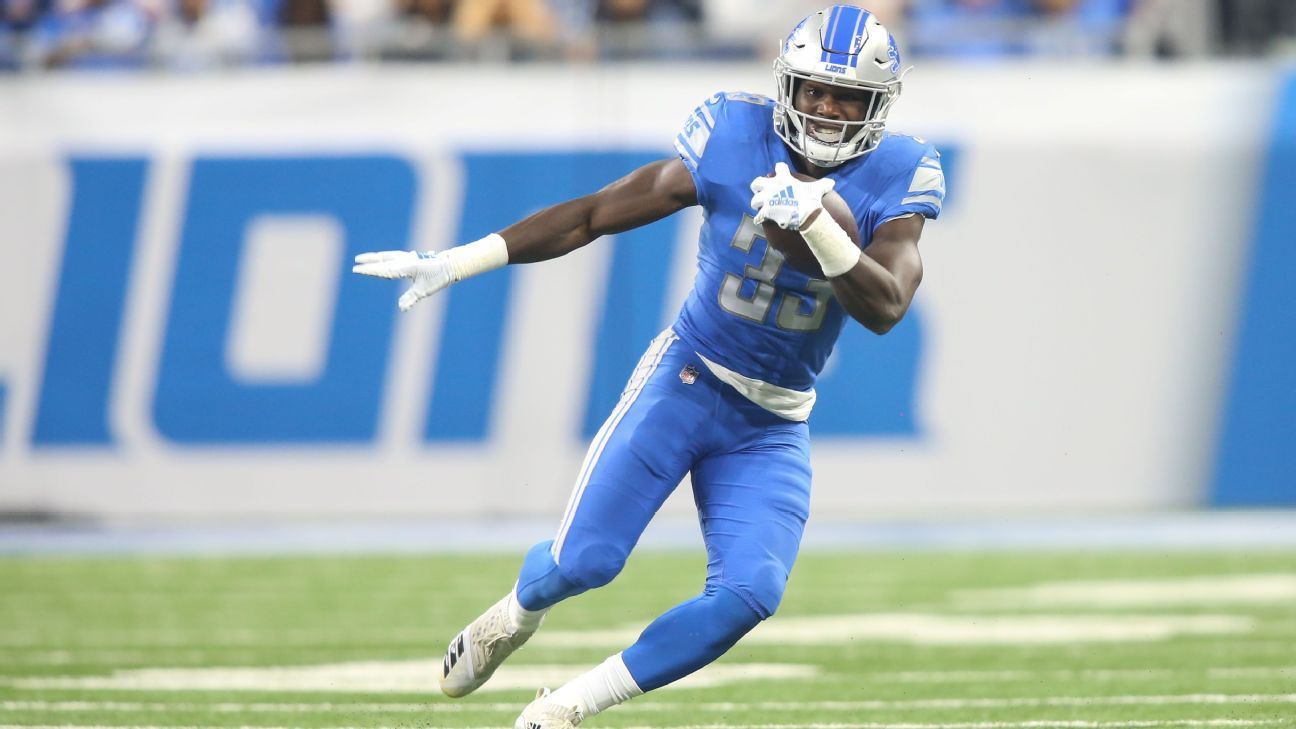 Lions RB Kerryon Johnson likely out with knee injury