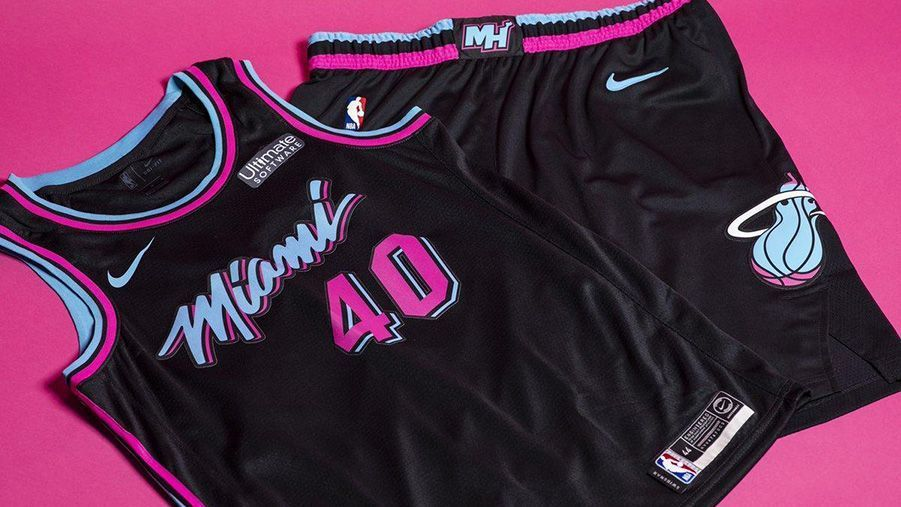 online store b2dab 436a8 Heat unveil new version of Miami Vice uniforms
