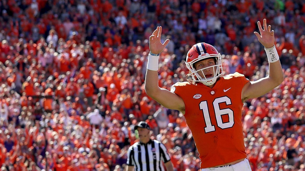 Clemson quarterback Trevor Lawrence influenced by idol ...