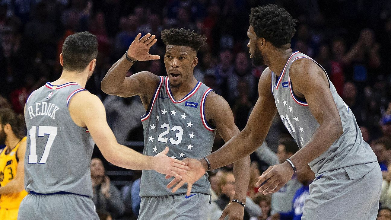 super popular 6d853 0f524 Jimmy Butler praises Philadelphia 76ers teammates after win ...