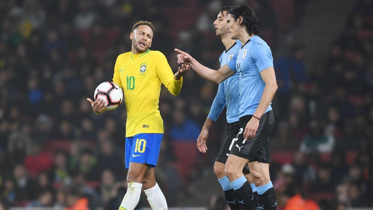 c95bbb6252  Faíscas  em  encontro tenso   Imprensa internacional não deixa passar em  branco falta de Cavani em Neymar