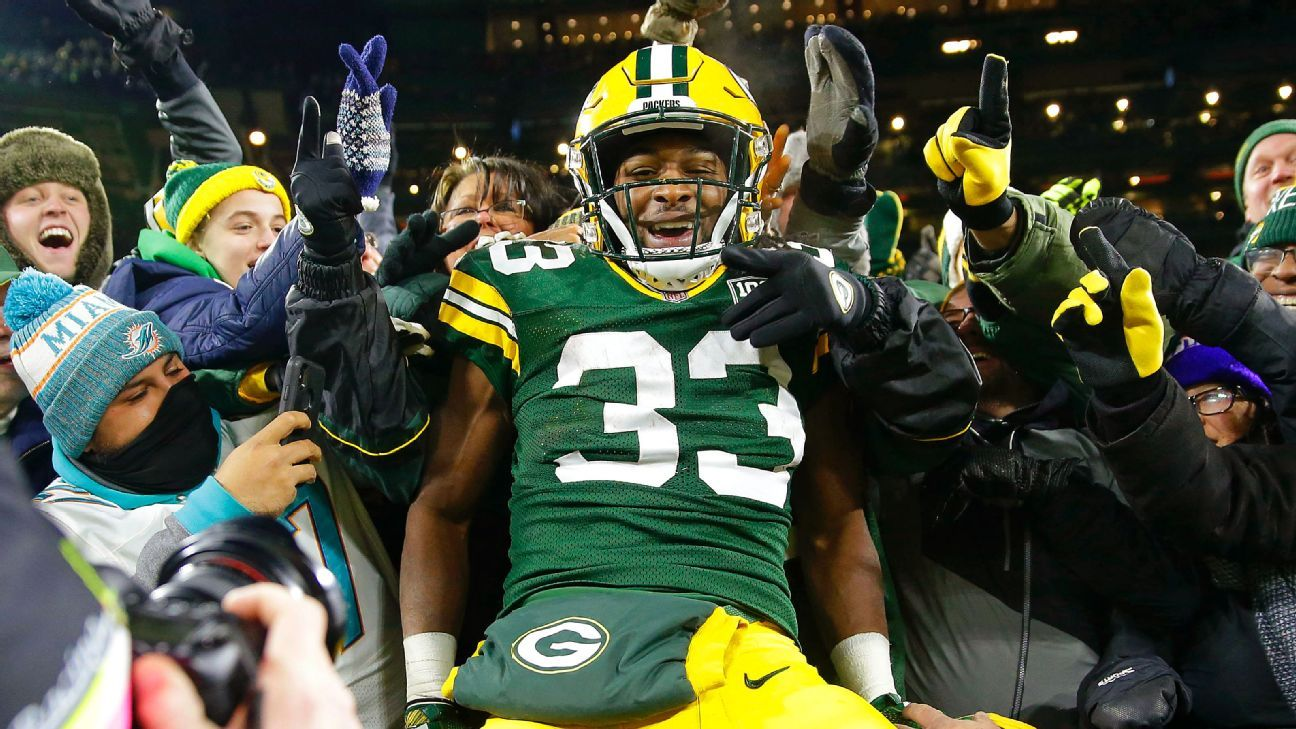 Packers Aaron Jones Still Plans To Do Lambeau Leap Without Fans In Stands