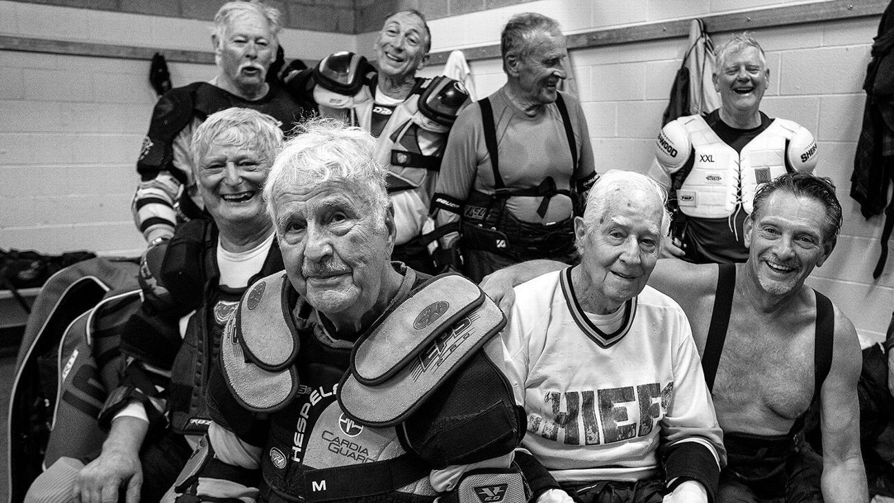 These senior hockey players found a frozen fountain of youth