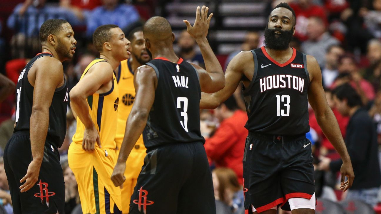 James Harden of Houston Rockets doesn t deny he got away with travel at  critical time vs. Utah Jazz a7a771023